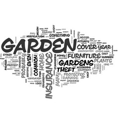 Is your garden protected by your home insurance vector