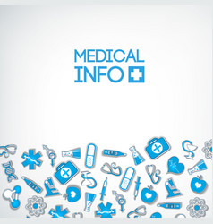 light healthcare poster vector image
