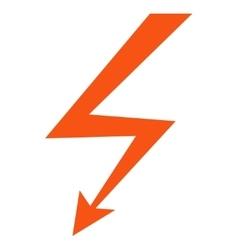 Lightning strike flat icon vector