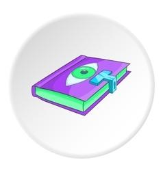 Magic book icon isometric style vector
