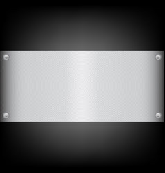 Metal plate on the carbon background vector