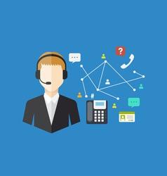 Office worker concept vector