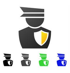 Policeman flat gradient icon vector