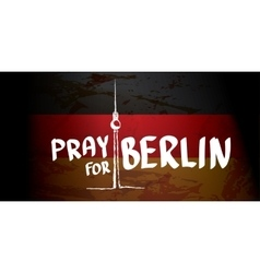 Pray for berlin concept vector