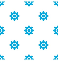 Seamless pattern with blue gears vector image vector image