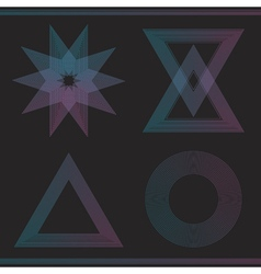 Set of geometric color hipster shapes55465 vector