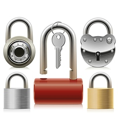 Set of padlocks vector