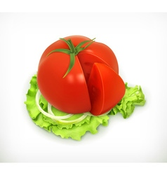 Vegetarian food isolated vector image vector image