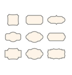 vintage frames set isolated elements vector image vector image