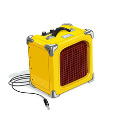 yellow guitar combo amplifier vector image vector image