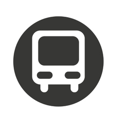 Bus truck public car icon vector