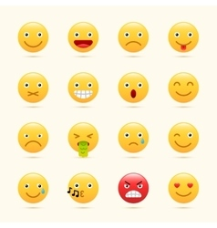 Emoticons set yellow website emoticons vector