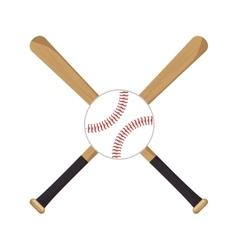 baseball crossed bats icons vector image