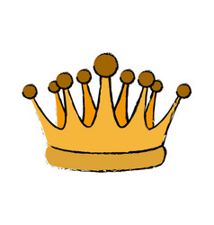 gold crown royal luxury monarchy king vector image