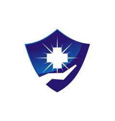Healthy care shield vector