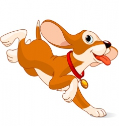 Running puppy vector
