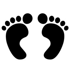Foot prints black vector