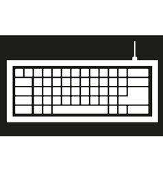 Computer keyboard silhouette isolated on black bac vector