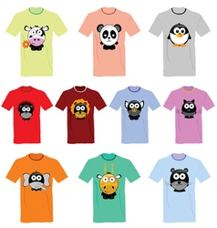 T-shirts with pictures of animals vector