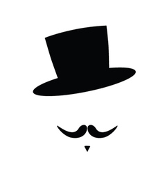 face with mustache vector image