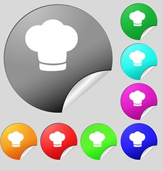 Chef hat sign icon cooking symbol cooks hat set of vector