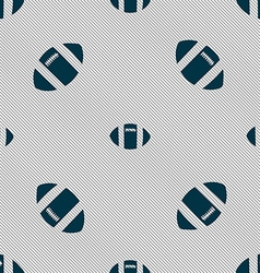 Rugby ball icon sign seamless pattern with vector