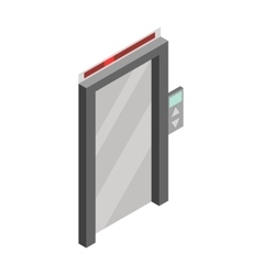Elevator door icon isometric 3d style vector