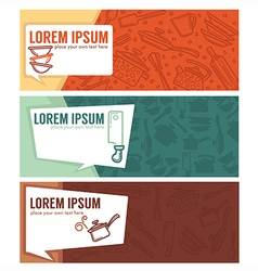 coocing banners vector image