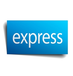 Express blue paper sign on white background vector