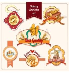 Bakery emblems set vector image vector image