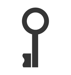 black key lock with circle graphic vector image