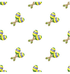 Brazilian maracas icon in cartoon style isolated vector
