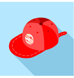 cap icon flat style vector image