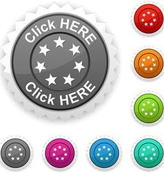 Click here award vector