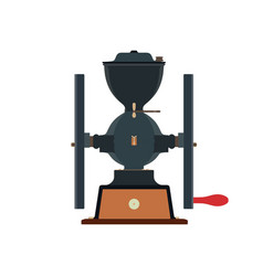 coffee grinder vintage icon cup cafe drink vector image