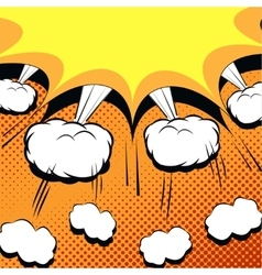 Comic book cartoon with explosion vector image