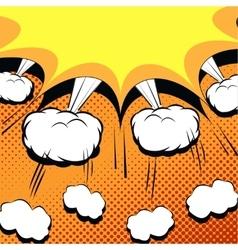 Comic book cartoon with explosion vector