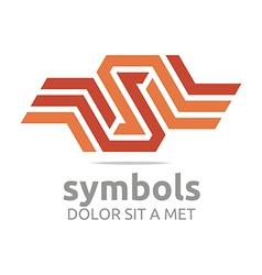 Design icon letter s hexagon zigzag symbol vector