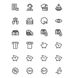 Finance line icons 10 vector
