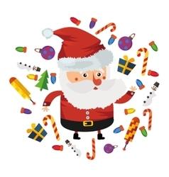 flat Christmas Santa vector image vector image