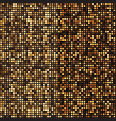 gold mosaic halftone abstract background vector image