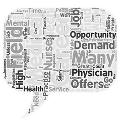 Great careers in the medical field text background vector