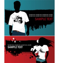 grunge t-shirt design vector image