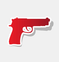 Gun sign new year reddish vector