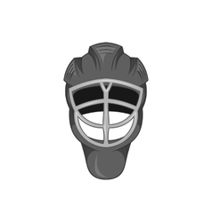 Hockey helmet icon black monochrome style vector