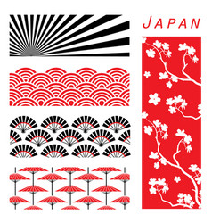 japan wallpaper background decorate design cartoon vector image vector image