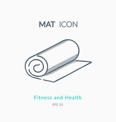 Mat icon on white background vector