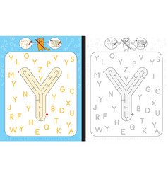 maze letter y vector image vector image