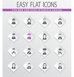Occupation icons and People icons set vector image vector image