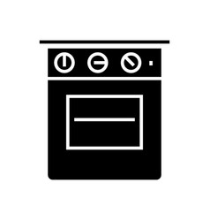 oven icon black sign on vector image